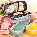 Lovely High-Capacity Students Pen Bag Multi-Functional Pencil Case Splicing Stripes