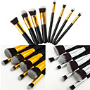 8pcs Makeup Brushes set Professional Silvery/Gold Powder brush Blush brush Eyeshadow Brush High Makeup Kit Synthetic Cosmetic Brushes