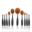 Buy 2016 New 1Soft Oval Toothbrush Makeup Brush Sets Foundation Brushes Cream Contour Powder Blush Concealer Cosmetic Puff Batch