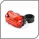 Luci bici,Luci di coda / luci di sicurezza-6 Modo 80 Lumens Impermeabile / antiscivolo AAAx2 Batteria Ciclismo/Bicicletta Rosso Bicicletta