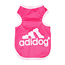 Dog / Cat Shirt / T-Shirt Blue / Pink / Gray Summer Letter & Number Fashion
