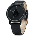 Men's Simple Fashion Design Leather Band Quartz Watch