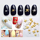 Buy 5New Cute Gold Silver Starfish Nail Art Studs DIY 3D Alloy Beauty Accessories Decoration