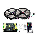 2×5M 150X5050 SMD RGB LED Strip Light and 44Key Remote Controller and 5A Power Supply (AC110-240V)