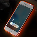 Buy iPhone 6 Case / Plus LED Flash Lighting Ultra-thin Transparent Back Cover Solid Color Soft TPUiPhone 6s