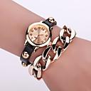 Buy Women's Quartz Analog White Case Multilayer Leather Band Bracelet Wrist Fashion Watch Jewelry Cool Watches Unique