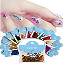 Buy 1set Includ 12 colors Paper Card Nail Art Glitter Lozenge Shape Stickers Decoration