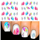 Buy 2 Sheet Fashion Leopard Nail Decals Water Transfer Stickers Art Tips Feather Wraps DIY Decorations Tools