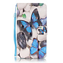 Buy PU Leather Material 3D Painting Blue Butterfly Pattern Phone Case Huawei P9 Lite