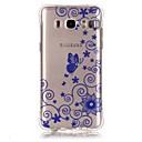 Buy Blue Lace Pattern TPU Popular Brands Calling Flash Case Cover Samsung Galaxy J7 (2016) / J5 J1