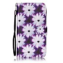 Buy Purple Flowers Painted PU Leather Material Card Holder Phone Case iPhone 7 7plus 6S 6plus 5S SE