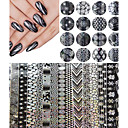 Buy 120cm*4cm Halloween Style Nail Art Snowflake Transfer Foil Sticker Decal Adhesive Tips Decorations