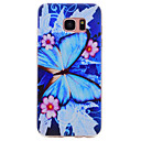 Buy Samsung Galaxy S7 edge S6 Blue Butterfly Pattern TPU High Purity Translucent Soft Phone Case S5 S4 S3