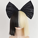 Buy Big Bow hairnet Black Half Blonde Sia Styling Party Wigs