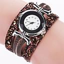 Buy Women's Fashion Watch Bracelet Casual Quartz / PU Band Cool Black White Blue Red Brown Pink Brand