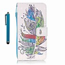 Buy Samsung Galaxy A5 (2016) A3 Case Cover Stylus Colorful Feathers 3D Painting PU Phone