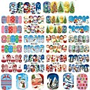 Buy Set 48 Designs/Sets Christmas Xmas Full Wraps Beauty Water Transfer Sticker Nail Art Decorations Tips DIY Stamp A1129-1176