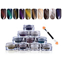 Buy 1g/box 3D Effect Cat Eye Magnet Magic Mirror Powder Dust UV Gel Polish Nail Art Glitter Pigment DIY Manicure Tools