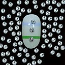 Buy 10 2MM Round Silver Metal Rivet Studs Top Grain Line Nail Art Decoration