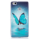 Buy Glow Dark IMD Pattern Case Back Cover Blue butterfly Soft TPU Huawei P9 Lite P8