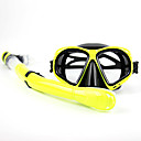 Buy Snorkels Swim Mask Goggle Snorkel Set Diving Masks Packages / Snorkeling Swimming silicone PVC GlassPurple Black White Red