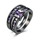 Buy Ring AAA Cubic Zirconia Zircon Copper Titanium Steel Tungsten Simulated Diamond Purple Jewelry Daily Casual 1pc
