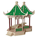 Buy Jigsaw Puzzles DIY KIT Building Blocks 3D Educational Mandarin Duck Pavilion Wooden ToysSquare Famous