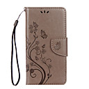 Buy Huawei P8 Lite (2017) Nova PU Leather Material Butterfly Flower Pattern Solid Color Phone Case Honor 8 5C 7 P9 Y6 II Y5