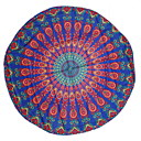 Buy 1Pc 150*150Cm Round Beach Towel Table Cloth Chiffon TowelBohemian style Reactive Print 100% Polyester