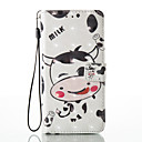 Buy Huawei P8 Lite (2017) P9 Case Cover Cartoon Cow Pattern Glare 3D Dimensional Glossy PU Material Stent Card Holster