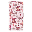 Buy Huawei P10 Lite P8 (2017) PU Leather Material Bear Pattern Relief Phone Case Plus P9