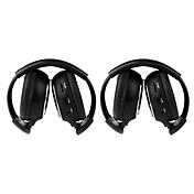 2 piezas de infrarrojos para auriculares inalámbricos estéreo del coche ir-2011d