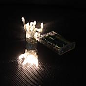 3m 30-luz LED blanca cálida de 2 modos LED String de hadas de la lámpara para la Navidad (3xAA)
