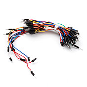 전자 DIY 땜질 불가능한 유연한 브레드보드 점퍼 케이블 전선 65Pcs
