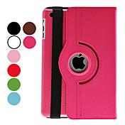 제품 케이스 커버 스탠드 자동 슬립 / 웨이크 기능 360°회전 풀 바디 케이스 한 색상 인조 가죽 용 iPad Mini 3/2/1