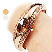 Mujer Reloj de Moda Reloj Pulsera Reloj Casual Cuarzo Aleación Banda Brazalete Elegantes Plata Bronce
