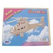 직소 퍼즐 3D퍼즐 / 나무 퍼즐 빌딩 블록 DIY 장난감 헬리콥터 나무 골드 모델 & 조립 장난감