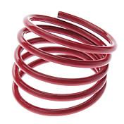 여름 형광색 사탕 색깔 나선형 얇은 링