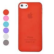Para Funda iPhone 5 Ultrafina / Congelada Funda Cubierta Trasera Funda Un Color Dura Policarbonato iPhone SE/5s/5