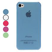 아이폰 4/4S (분류 된 색깔)를위한 투명한 태양열 집열기 TPU 단단한 케이스