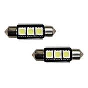 3-SMD libre de errores 6418 C5W Bombillas LED para coches europeos matrícula Luces Xenon Blanco