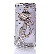 모자 지르콘을 가진 여우 아이폰 5/5S를위한 투명 백 케이스 커버