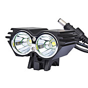 Luces para bicicleta Luz Frontal para Bicicleta LED Ciclismo 18650.0 Lumens Cargador AC Ciclismo