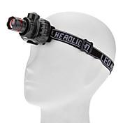 헤드램프 LED 80lm 루멘 3 모드 배터리 불포함 조절가능한 초점 방수 컴팩트 사이즈 작은 사이즈 슈퍼 라이트 용 일상용 사이클링 여행 일 등산