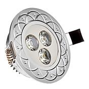 Luces Empotradas Descendentes 3W 3 LED de Alta Potencia 285 LM Blanco Fresco AC 85-265 V