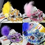 마스크 / 가면 코스프레 페스티발/홀리데이 할로윈 의상 퍼플 / 핑크 / 옐로 / 블루 솔리드 / 레이스 마스크 할로윈 / 카니발 / 새해 유니섹스 PVC