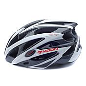 MOON 여성용 남성용 자전거 헬멧 25 통풍구 싸이클링 산악 사이클링 도로 사이클링 사이클링 중간: 55-59cm; 라지: 59-63cm; PC EPS