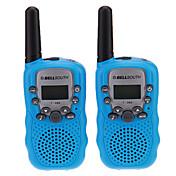 """Par de T-388 Lovers Hablar Mini 8KM mano Screen 1 """"LCD walkie talkie radio de dos vías con la linterna"""