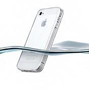 아이폰 4/4S (분류 된 색깔)를위한 얇은 투명 실리콘 뒤 케이스
