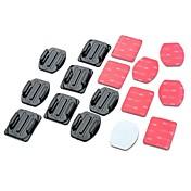 접착제 Flat Adhesive Pads Curved Adhesive Pads 에 대한 Gopro 5/4/3/3+/2/1스케이트 유니버셜 자동 밀리터리 스노모바일 비행 영화 및 음악 사냥과 낚시 라디오 제어 스카이다이빙 보트 카약 암벽등반
